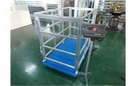 Balance de bétail avec cage en fer