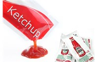 machine de remplissage paquet de ketchup