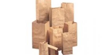 Sacs a provisions en papier avec base adhésive
